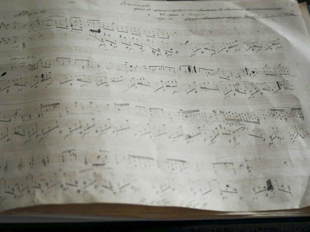 ショパン手書きの楽譜